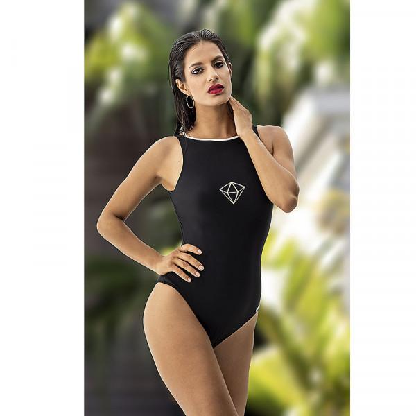 Badeanzug Damen Schwarz klasisch