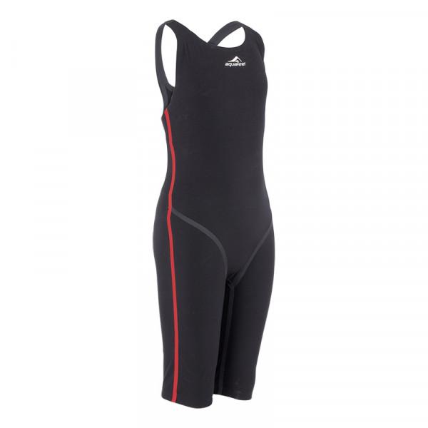 Schwimmanzug Profi schwarz rot