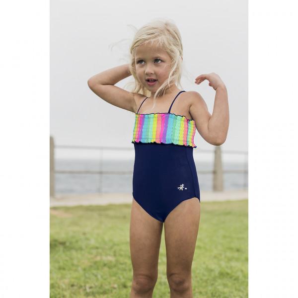 Badeanzug Mädchen marine bunt
