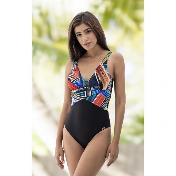 Badeanzug schwarz multicolor