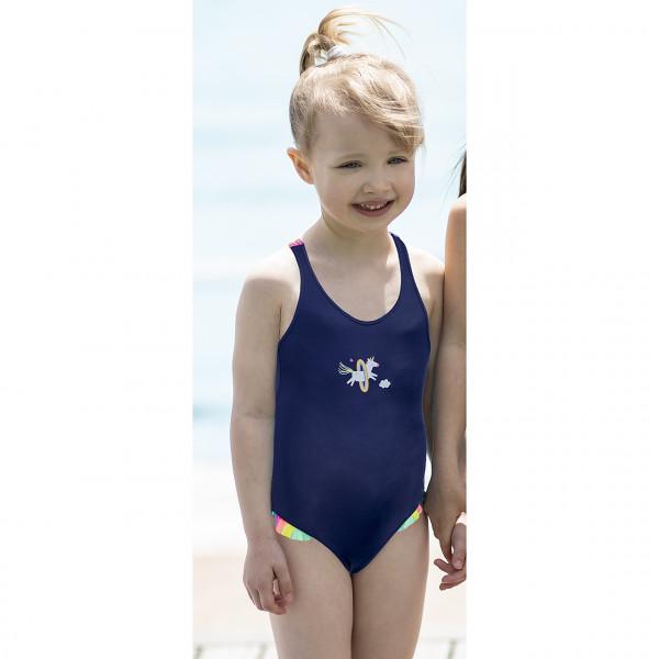 Badeanzug Mädchen marine
