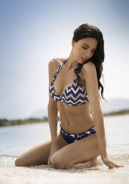 Bikini Damen Neckholder blau