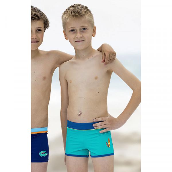 Badehose Jungen türkis