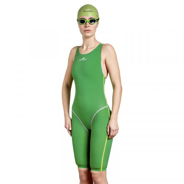 Schwimmanzug Damen Profi grün