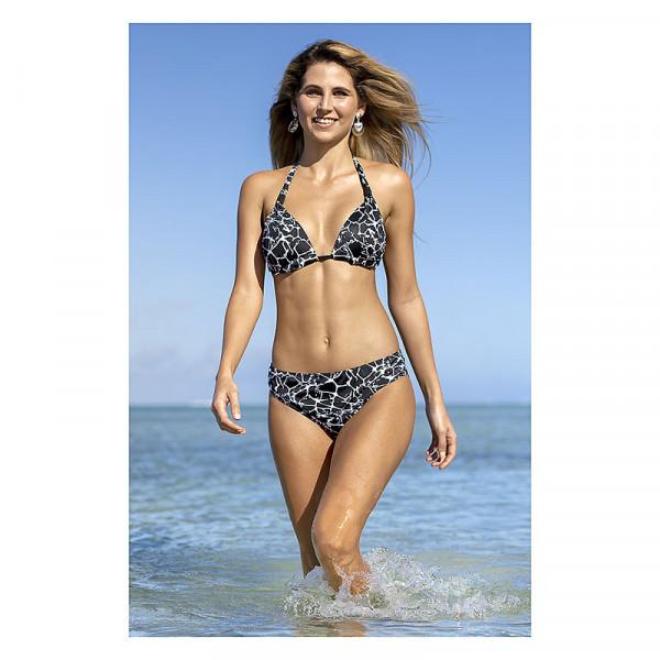 Bikini schwarz weiß Schalen