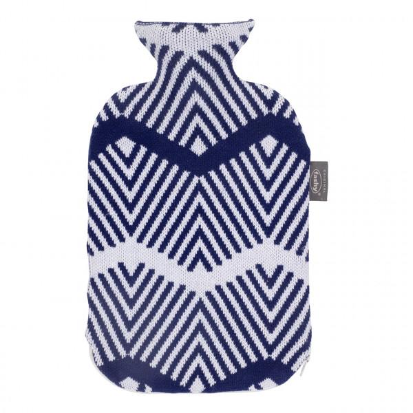Wärmflasche mit Strickbezug und Reißverschluss