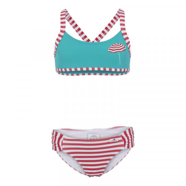 Bikini Mädchen maritim Streifen