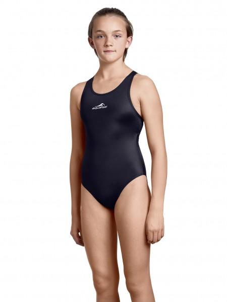 Badeanzug Mädchen schwarz sportlich