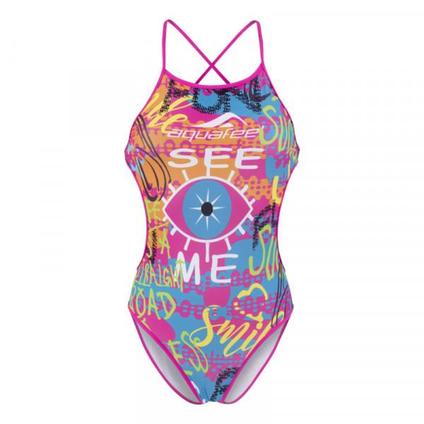 Badeanzug Schwimmer bunt