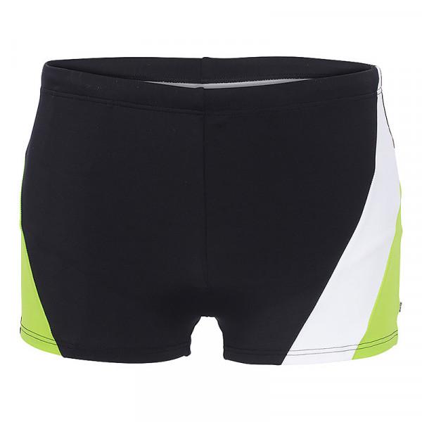 Badehose Herren schwarz weiß grün