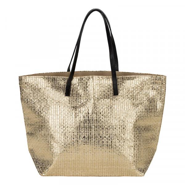 Tasche gold glitzer Strandtasche