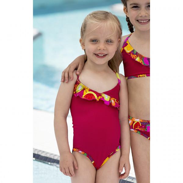 Badeanzug Mädchen rot