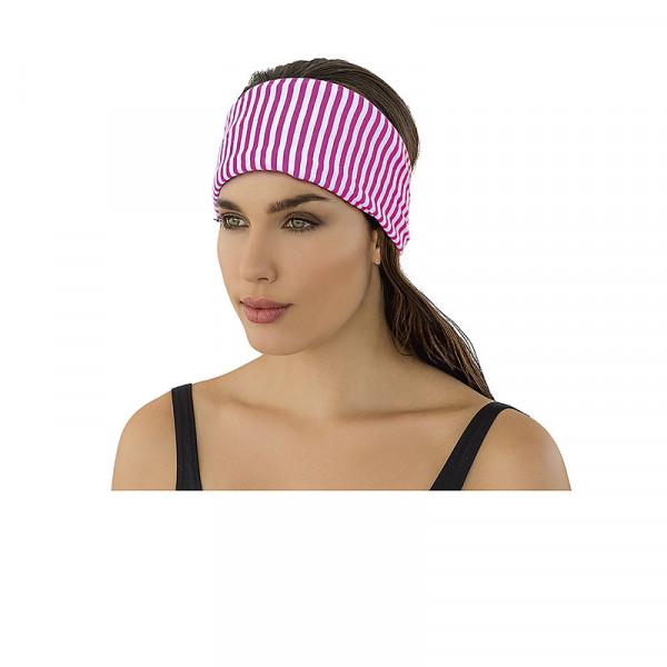Haarband Damen gestreift pink weiß