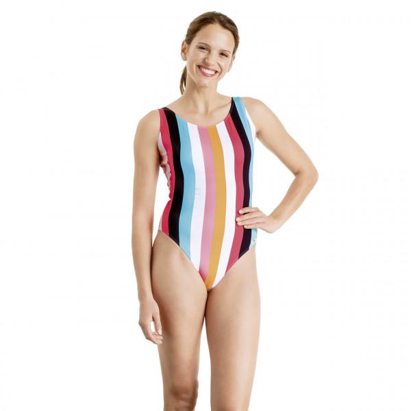 Badeanzug Damen bunte Streifen