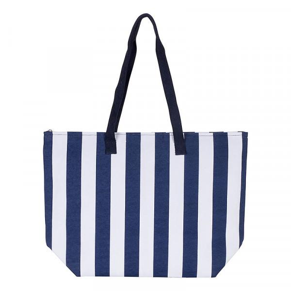 Tasche Streifen blau Strandtasche
