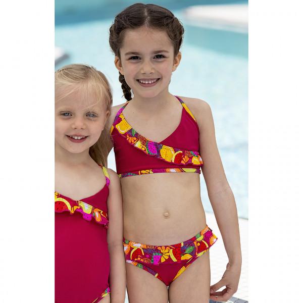 Bikini Mädchen rot Rüschen
