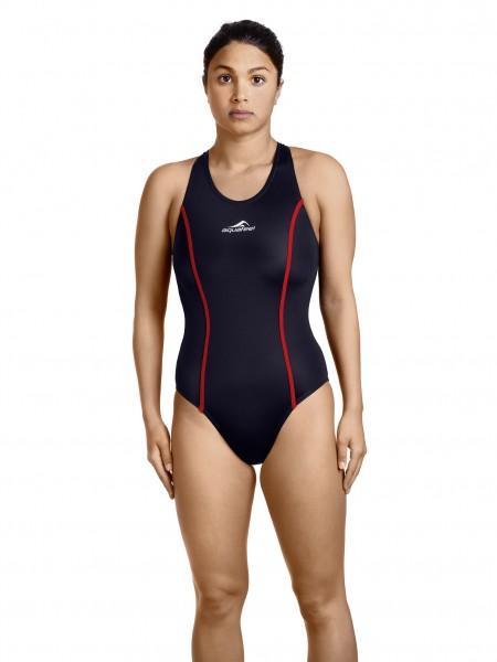 Badeanzug Damen Wettkampf schwarz