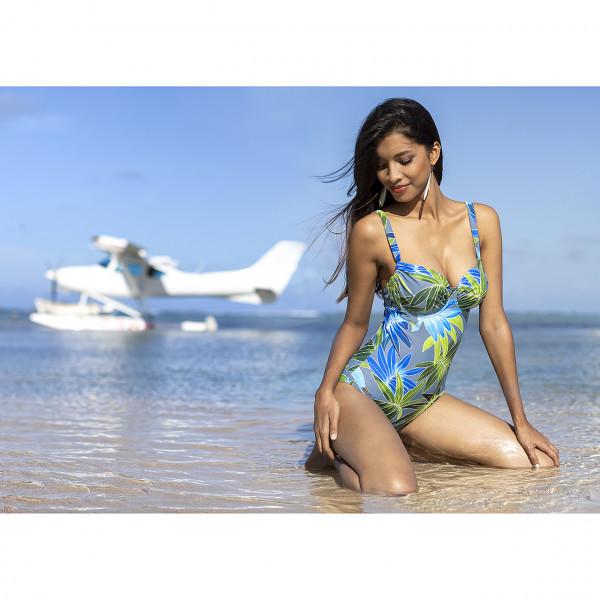 Badeanzug Damen blau türkis