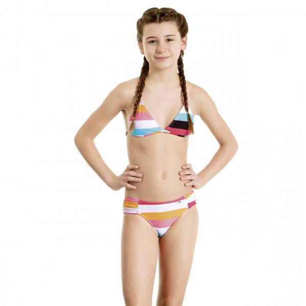 Bikini Mädchen bunt gestreift