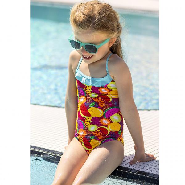 Badeanzug Mädchen Rüschen bunt