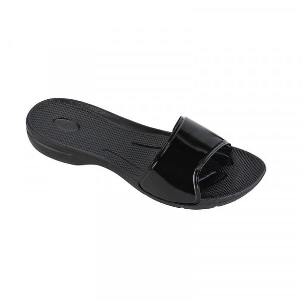 Badeschuhe Pantolette Damen schwarz