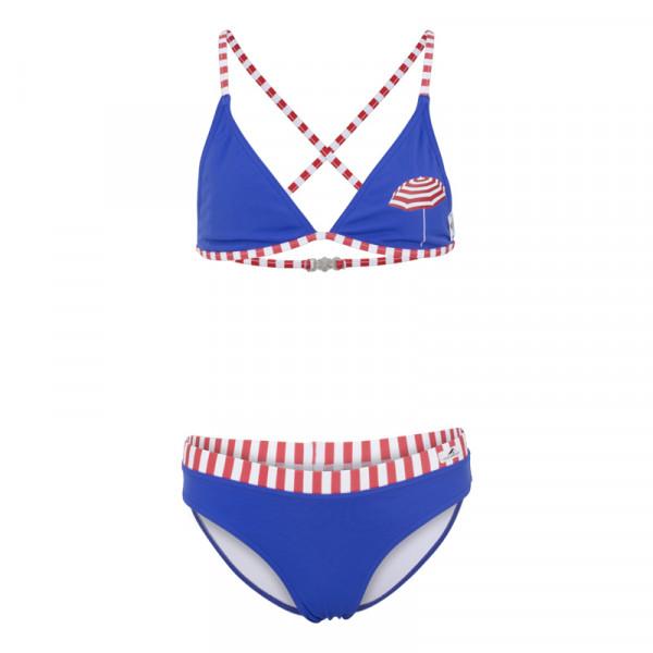 Bikini Mädchen maritim blau