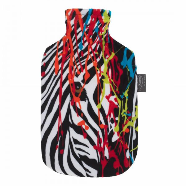 "Wärmflasche 2,0 L ""Popart"" Zebra"