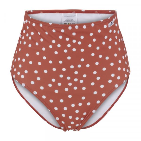 Bikini Hose Damen rot/weiß