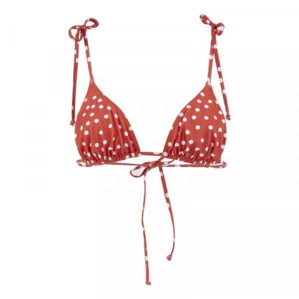 Bikini Top Damen rot/weiß gepunktet