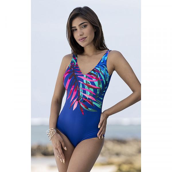 Badeanzug Damen blau multicolor