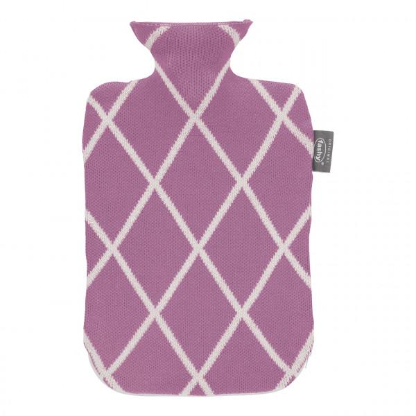 Wärmflasche mit Strickbezug und Reißverscchluss