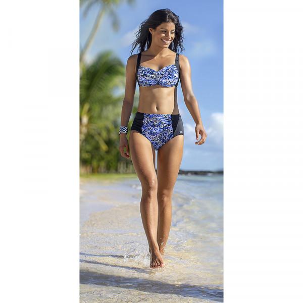 Bikini Damen Mustermix Blau