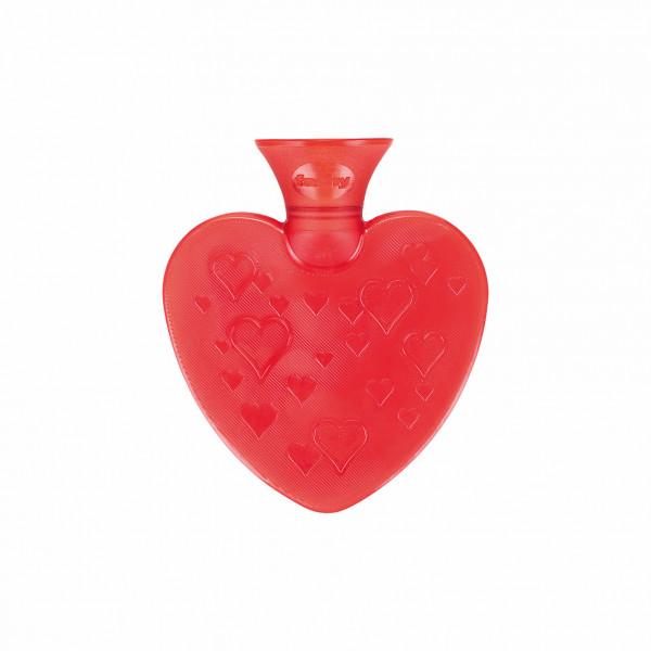 Herzwärmflasche rot 0,7 l ohne Bezug