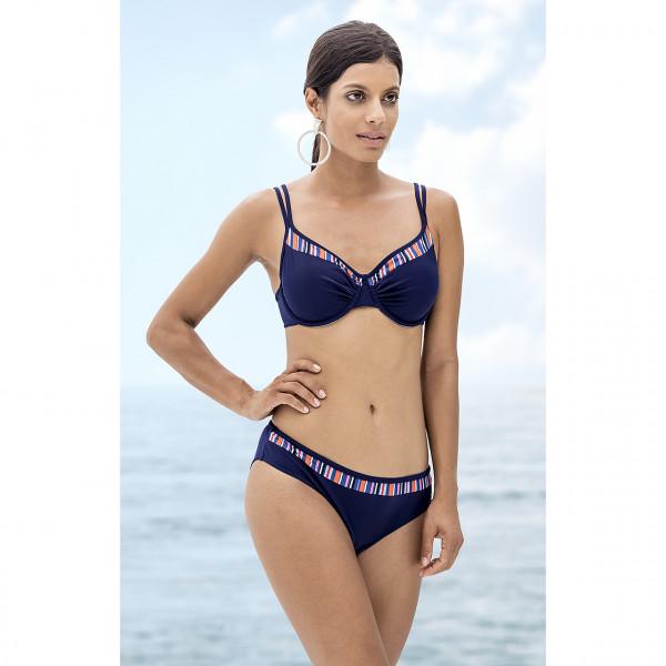 Bikini Damen blau Streifen