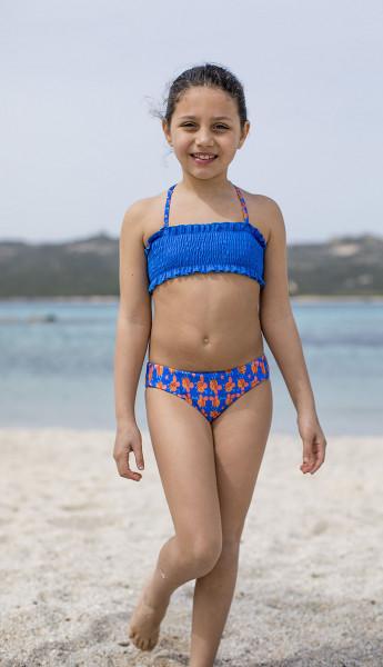 Bikini Mädchen bunt blau